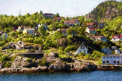 Photograph - Norway Village By The Sea by Bill Howard