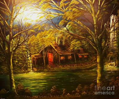 Norwegian Evening Glow- Original Sold - Buy Giclee Print Nr 31 Of Limited Edition Of 40 Prints  Art Print