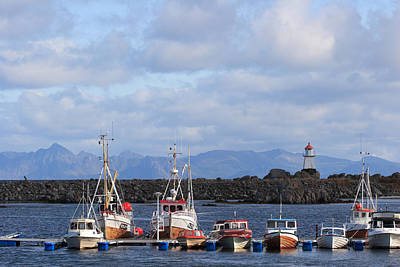 Norwegian Fishing Port Art Print