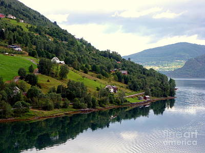 Photograph - Norwegian Fjord by John Potts