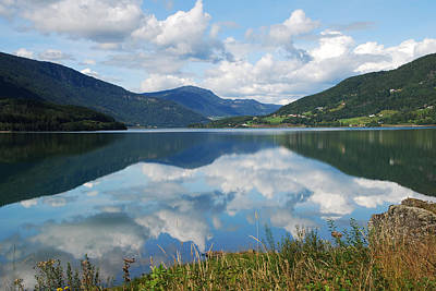 Photograph - Norwegian Fjord Reflections by Ankya Klay