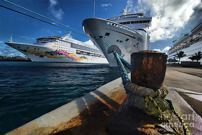 Carnival Photograph - Norwegian Sky Carnival Sensation And Royal Caribbean Majesty by Amy Cicconi