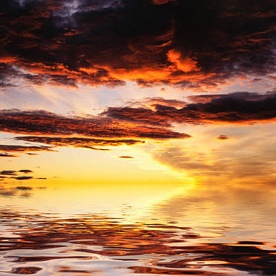 Lightscapes Photograph - Norwegian Sunset by Hakon Soreide