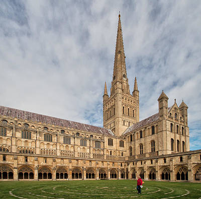 Photograph - Norwich Cathedral by Shirley Mitchell