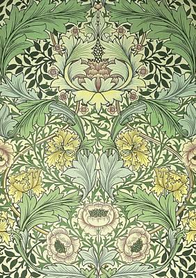 Digital Art - Norwich Pattern by William Morris