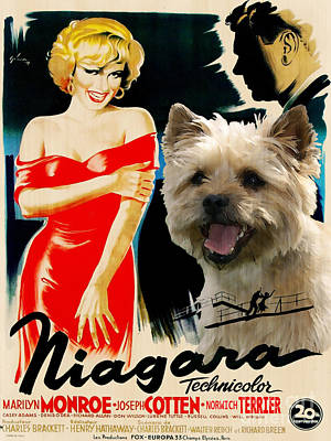 Painting - Norwich Terrier Art Canvas Print - Niagara Movie Poster by Sandra Sij