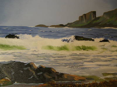 Painting - Norwick Beach Shetland Isles by Eric Burgess-Ray