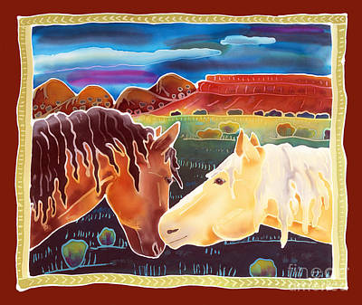 Wild Horse Painting - Nose To Nose by Harriet Peck Taylor
