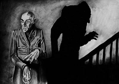 Dracula Drawing - Nosferatu by Jeremy Moore
