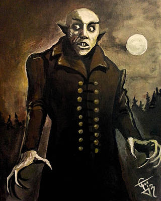 Nosferatu Painting - Nosferatu by Tom Carlton