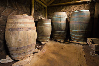 Old Barrels Photograph - Nostalgia - Old Barrels In A Farm by Matthias Hauser