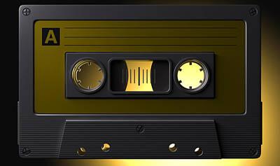 Nostalgic Macro Cassette Tape Art Print