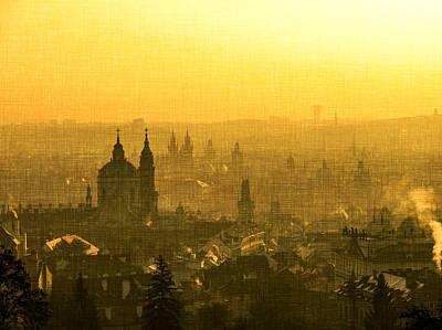 Prague Digital Art - Nostalgic Prague by Katerina Lesslerova