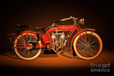 Photograph - Nostalgic Vintage Indian Motorcycle 20150227 by Wingsdomain Art and Photography