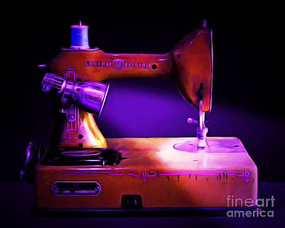 Nostalgic Vintage Sewing Machine 20150225m118 Art Print by Wingsdomain Art and Photography