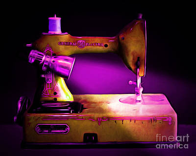 Nostalgic Vintage Sewing Machine 20150225m90 Art Print by Wingsdomain Art and Photography