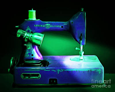 Nostalgic Vintage Sewing Machine 20150225p118 Art Print by Wingsdomain Art and Photography