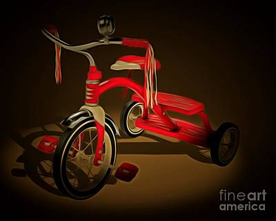 For The Kids Photograph - Nostalgic Vintage Tricycle 20150225 by Wingsdomain Art and Photography