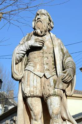 Prophecy Photograph - Nostradamus Statue by Chris Hellier