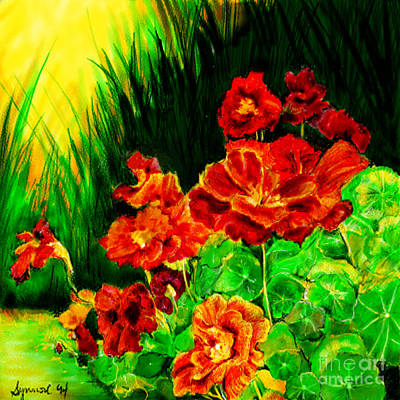 Painting - Nosturtiums by Synnove Pettersen