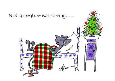Painting - Not A Creature Was Stirring... by Adele Bower