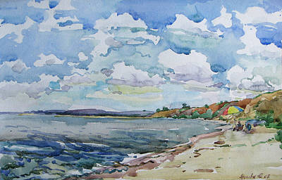 Painting - Not A Season. A Deserted Beach. by Juliya Zhukova