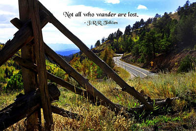 Not All Who Wander Art Print by Mike Flynn