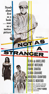 1955 Movies Photograph - Not As A Stranger, Us Poster, From Top by Everett