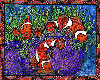 Clownfish Painting - Not Clowning Around by Melissa Cole