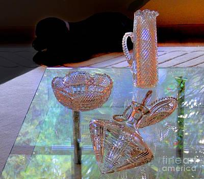 Not Depression Glass Print by Al Bourassa