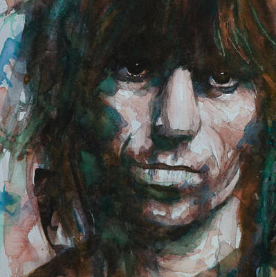 Keith Richards Wall Art - Painting - Not Fade Away by Paul Lovering