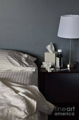 Unmade Bed Photograph - Not Feeling Good by Birgit Tyrrell