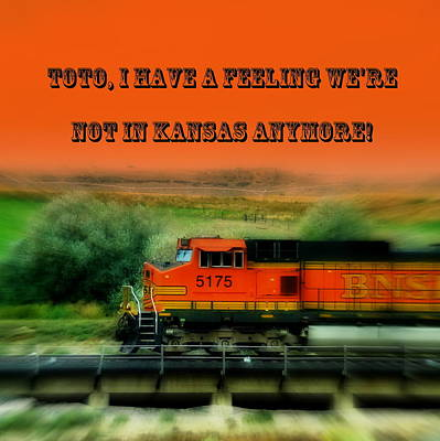 Photograph - Not In Kansas Anymore Train by Cindy Wright