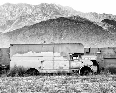 Not In Service Bw Palm Springs Art Print by William Dey
