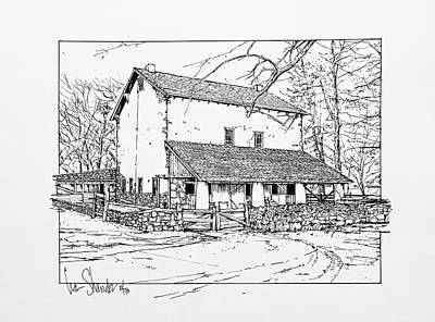 Drawing - Not Just A Barn by Ira Shander