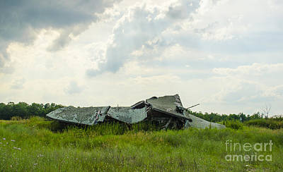 Photograph - Not Much Left Barn Breitung Michigan by Deborah Smolinske