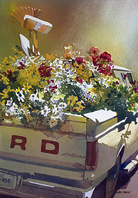 Florida Flowers Painting - Not Ready To Go by Kris Parins