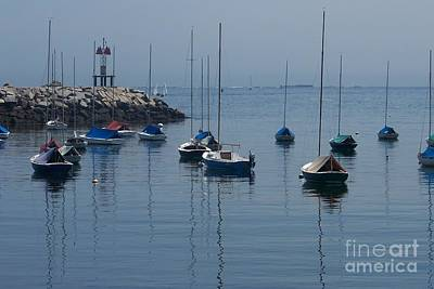 Art Print featuring the photograph Sail Boats  by Eunice Miller