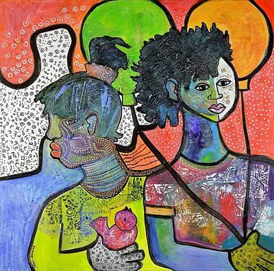 Mixed Media - Not Seeing Eye To Eye by Gwendolyn Aqui-Brooks