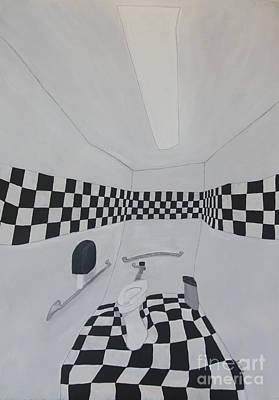 Not So Still Life Bathroom Original