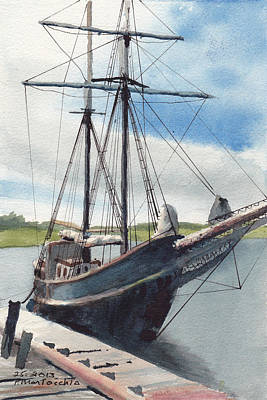 Bluenose Painting - Not The Bluenose by Peter Martocchio