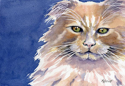 Paws Painting - Not Too Happy by Marsha Elliott