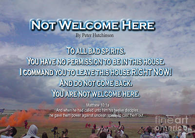 Photograph - Not Welcome Here by Bible Verse Pictures