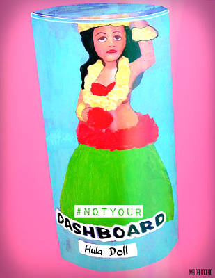 Painting - Not Your Dashboard Hula Doll by Michelle Dallocchio