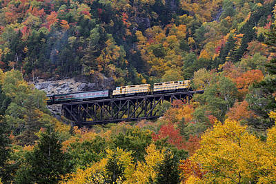 Photograph - Notch Train At Conway Scenic Railroad by Juergen Roth