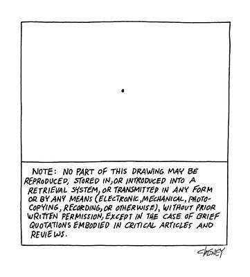 Note: No Part Of This Drawing May Be Reproduced Art Print