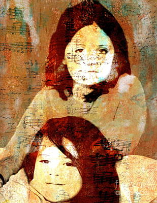 Smiling Mixed Media - Note To Granddaughters by Nancy TeWinkel Lauren