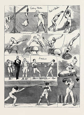 Athletic Drawing - Notes At The Annual Assault Of Arms Of The London Athletic by English School