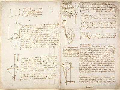 Folio Photograph - Notes By Leonardo Da Vinci, Codex Arundel by British Library