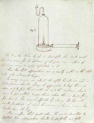 Notes On Davy Safety Lamp Art Print by Royal Institution Of Great Britain